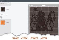 Fall Pumpkin Garden Gnome SVG Cut Files Product Image 2
