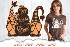 Fall Pumpkin Garden Gnome SVG Cut Files Product Image 1