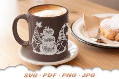 Fall Pumpkin Garden Gnome SVG Cut Files Product Image 4