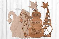 Thankful Grateful Blessed Pumpkin Gnome SVG Laser Cut Files Product Image 4