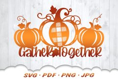 Thanksgiving Farmhouse Pumpkin Sign SVG Cut Files Product Image 1