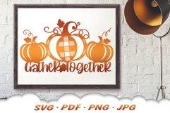 Thanksgiving Farmhouse Pumpkin Sign SVG Cut Files Product Image 5