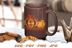 Thanksgiving Farmhouse Pumpkin Sign SVG Cut Files Product Image 4