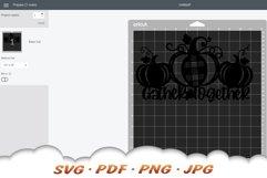 Thanksgiving Farmhouse Pumpkin Sign SVG Cut Files Product Image 2