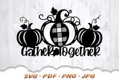 Thanksgiving Farmhouse Pumpkin Sign SVG Cut Files Product Image 3
