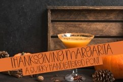 Web Font Thanksgiving Margarita - A Quirky Handlettered Font Product Image 1