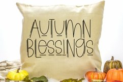 Web Font Thanksgiving Margarita - A Quirky Handlettered Font Product Image 4