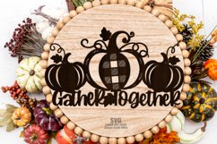 Farmhouse Plaid Pumpkin Welcome Sign SVG Glowforge Files Product Image 3