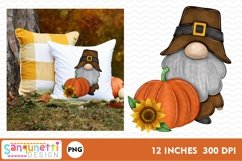 Thanksgiving gnome fall PNG Sublimation Product Image 2