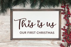 That Christmas - a two style Christmas hanging ornament font Product Image 6