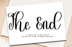 The End - A Beauty Script Font Product Image 1