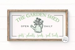 The Garden Shed SVG | Farmhouse Sign | DXF and more Product Image 1