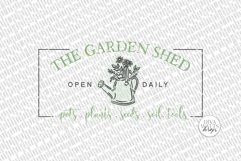 The Garden Shed SVG | Farmhouse Sign | DXF and more Product Image 3