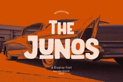 The Junos Display Font Product Image 1