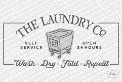 The Laundry Co SVG   Farmhouse Laundry Room Sign   DXF and m Product Image 2