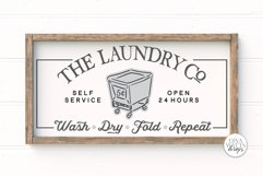 The Laundry Co SVG   Farmhouse Laundry Room Sign   DXF and m Product Image 1