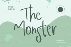 Web Font The Monster - Handmade Stylish Font Product Image 1