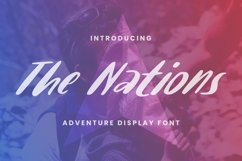 Web Font The Nations Product Image 1