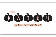 Web Font The Patch - Fun Pumpkin Monogram Font Product Image 1