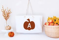 Web Font The Patch - Fun Pumpkin Monogram Font Product Image 3