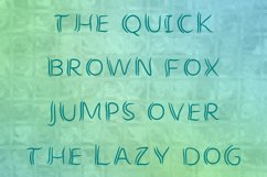 crooked letters inscription the quick brown fox jumps over the lazy dog