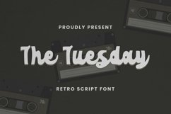 Web Font The Tuesday Font Product Image 1