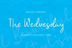 Web Font The Wednesday Font Product Image 1