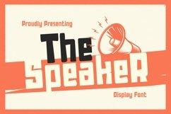 Web Font TheSpeaker Product Image 1