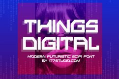 THINGS DIGITAL Font Product Image 1