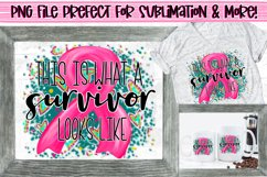 This is what a survivor looks like Breast Cancer Awareness Product Image 1