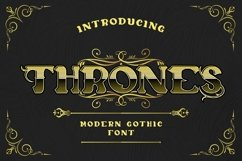 Web Font Thrones - Modern Gothic Font Product Image 1