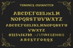 Web Font Thrones - Modern Gothic Font Product Image 4
