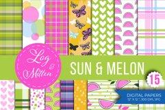 Melon Scrapbook Paper Pack - Summer Paper - Summer Patterns Product Image 6