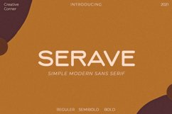 Serave - Soft Rounded Typeface Product Image 1