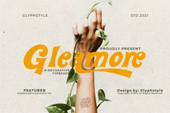 Gleamore Display Font Product Image 1
