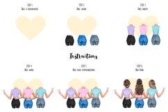 Best Friends Jackets Clipart, Custom Besties Soul Sisters Product Image 2