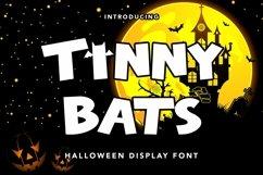 Web Font Tinny Bats - Halloween Display Font Product Image 1