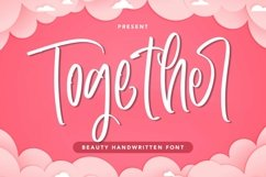 Web Font Together - Beauty Handwritten Font Product Image 1