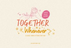 Together Whenever Font Duo Product Image 1