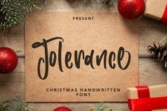 Web Font Tolerance - Christmas Handwritten Font Product Image 1