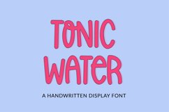 Tonic Water - a quirky handwritten font Product Image 1