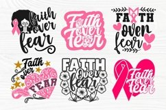 Faith Over Fear SVG Bundle, Breast Cancer Shirt Svg Designs Product Image 2