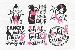 Breast Cancer SVG Bundle, Cancer Survivor Svg, Pink Ribbon Product Image 3