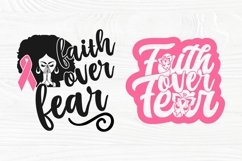 Faith Over Fear SVG Bundle, Breast Cancer Shirt Svg Designs Product Image 3