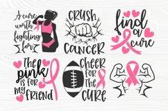 Breast Cancer SVG Bundle, Cancer Survivor Svg, Pink Ribbon Product Image 4