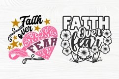 Faith Over Fear SVG Bundle, Breast Cancer Shirt Svg Designs Product Image 4