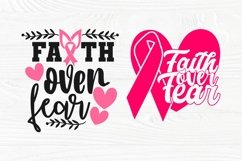 Faith Over Fear SVG Bundle, Breast Cancer Shirt Svg Designs Product Image 5