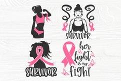 Breast Cancer SVG Bundle, Cancer Survivor Svg, Pink Ribbon Product Image 6
