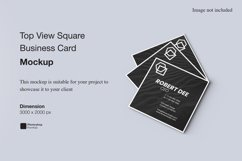 Top View Square Business Card Mockup Product Image 1
