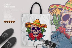 Cinco de Mayo Mexican Skull Logo Mascot Product Image 6
